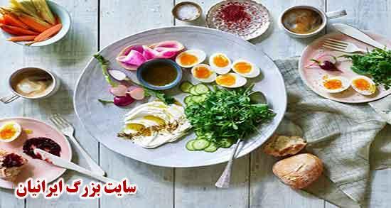 صبحانه لاکچری ؛ یک صبحانه لاکچری به همراه منو برای صبحانه مهمانی